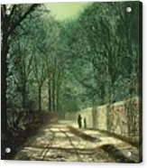 Tree Shadows In The Park Wall Acrylic Print by John Atkinson Grimshaw