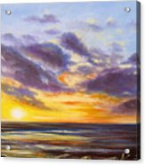 Tropical Sunset Acrylic Print by Gina De Gorna