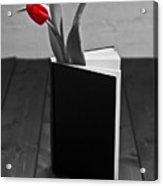 Tulip In A Book Acrylic Print by Joana Kruse