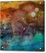 Twilight In The Cosmos Acrylic Print by Janet Hinshaw