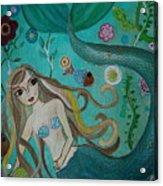 Under The Sea Acrylic Print by Pristine Cartera Turkus