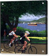 Vancouver Bike Ride Poster Acrylic Print by Neil Woodward