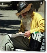 Walt Reading  Acrylic Print by Robert Knight