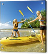 Women Kayakers Acrylic Print by Kicka Witte - Printscapes