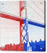 1000 Island International Bridge 2 Acrylic Print by Steve Ohlsen