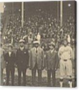 1924 Negro League World Series. Players Acrylic Print by Everett