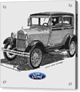 1928 Model A Ford 2 Dr Sedan Acrylic Print by Jack Pumphrey