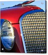1937 Cadillac V8 Hood Ornament 2 Acrylic Print by Jill Reger