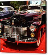 1941 Cadillac Series 62 Convertible Coupe . Front Angle Acrylic Print by Wingsdomain Art and Photography