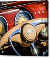 1941 Lincoln Continental Cabriolet V12 Steering Wheel Acrylic Print by Jill Reger