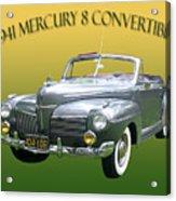 1941 Mercury Eight Convertible Acrylic Print by Jack Pumphrey