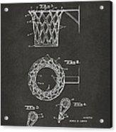 1951 Basketball Net Patent Artwork - Gray Acrylic Print by Nikki Marie Smith