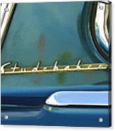 1953 Studebaker Champion Starliner Abstract Acrylic Print by Jill Reger