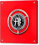 1959 Alfa-romeo Giulietta Sprint Emblem Acrylic Print by Jill Reger