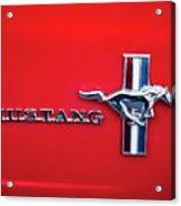 1965 Ford Mustang Emblem 4 Acrylic Print by Jill Reger