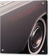 1968 Vintage Lincoln Sedan Fender Acrylic Print by Anna Lisa Yoder