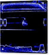 1969 Mustang In Neon 2 Acrylic Print by Susan Bordelon