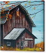 1980 Barn Acrylic Print by Linda Simon