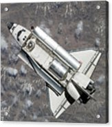 Aerial View Of Space Shuttle Discovery Acrylic Print by Stocktrek Images