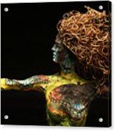 Alight A Sculpture By Adam Long Acrylic Print by Adam Long