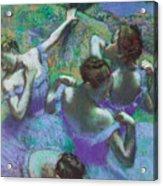 Blue Dancers Acrylic Print by Edgar Degas