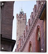 Bologna Tower Acrylic Print by Andre Goncalves