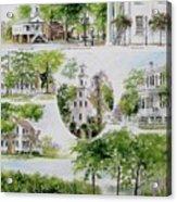 Cheraw Collage Acrylic Print by Gloria Turner
