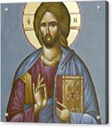 Christ Pantokrator Acrylic Print by Julia Bridget Hayes