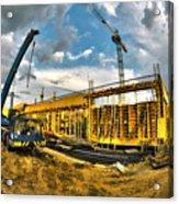 Construction Site Acrylic Print by Jaroslaw Grudzinski