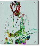 Eric Clapton Acrylic Print by Naxart Studio