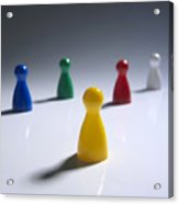 Game Pieces In Various Colours Acrylic Print by Bernard Jaubert