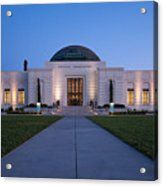 Griffith Observatory Acrylic Print by Adam Romanowicz