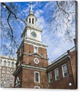 Independence Hall Acrylic Print by John Greim
