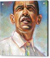 Obama 08 Acrylic Print by Dennis Rennock