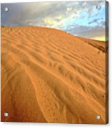 Sand Dune At Great Sand Hills In Scenic Saskatchewan Acrylic Print by Mark Duffy
