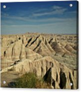 The Badlands Acrylic Print by Brent Parks