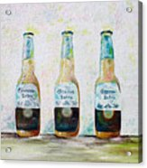 Three Amigos Acrylic Print by Barbara Teller