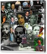 Major Inventors And Scientists Acrylic Print by Purpose Publishing