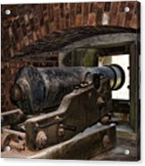 24 Pounder Cannon Acrylic Print by Peter Chilelli