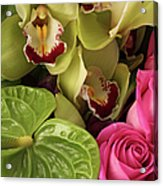 A Close-up Of A Bouquet Of Flowers Acrylic Print by Nicholas Eveleigh