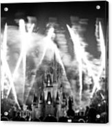 Disney Castle At Night Acrylic Print by Fizzy Image
