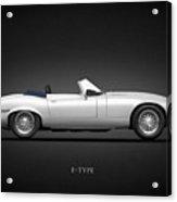 Jaguar E-type Acrylic Print by Mark Rogan