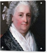 Martha Washington, American Patriot Acrylic Print by Photo Researchers