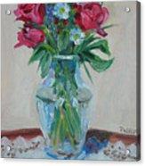 3 Roses Acrylic Print by Paul Walsh