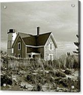 Sandy Neck Lighthouse Acrylic Print by Charles Harden