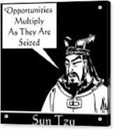 Sun Tzu Acrylic Print by War Is Hell Store