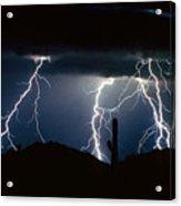 4 Lightning Bolts Fine Art Photography Print Acrylic Print by James BO  Insogna