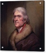President Thomas Jefferson Acrylic Print by War Is Hell Store