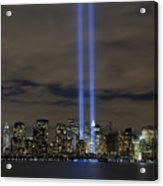 The Tribute In Light Memorial Acrylic Print by Stocktrek Images
