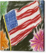 4th Of July Acrylic Print by Jessika and Art with a Heart In Healthcare